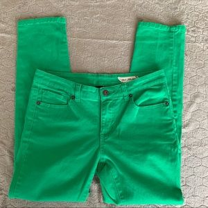 Chor Kelly Green Ankle Cropped Jeans Size 7